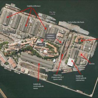 Primeiro Galpão de Manutençao De Submarinos da Marinha do Brasil
